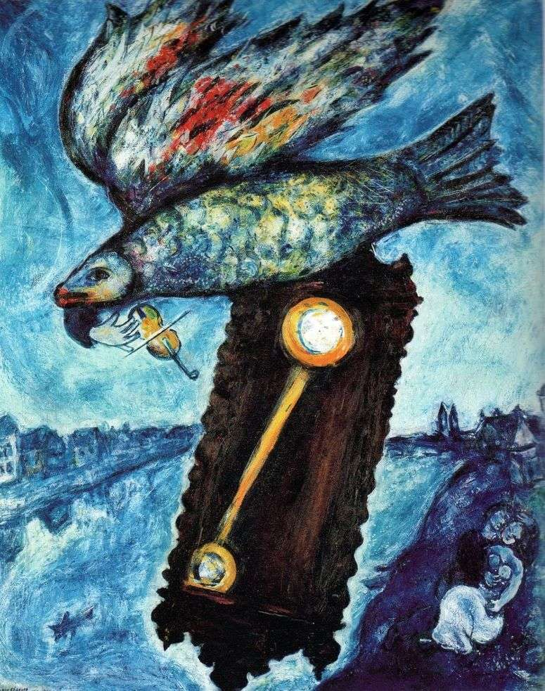 Описание картины «Время» — река без берегов — Марк Шагал 👍 - Шагал Марк
